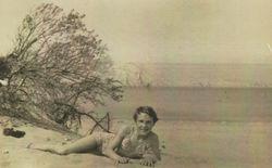 That's me enjoying the Sandy Beach at Gullane, East Lothian.
