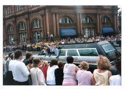 Fat Sam's limo in the Jazz Festival Parade 1987