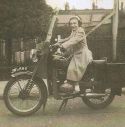 Me on my dads motorbike at the Dean Cemetery, located at the top of Dean Path.
