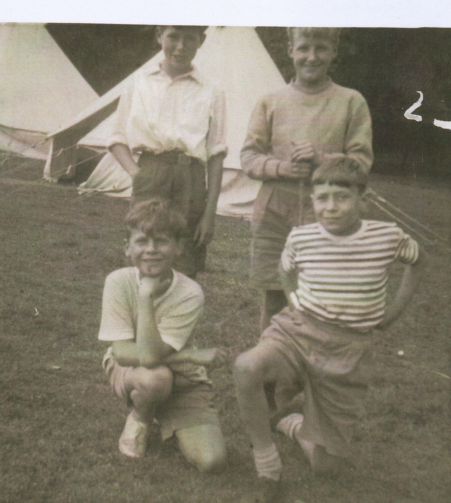 Dean Village Children attending Boys Brigade Camp at Garunnoch, Stirlingshire.
