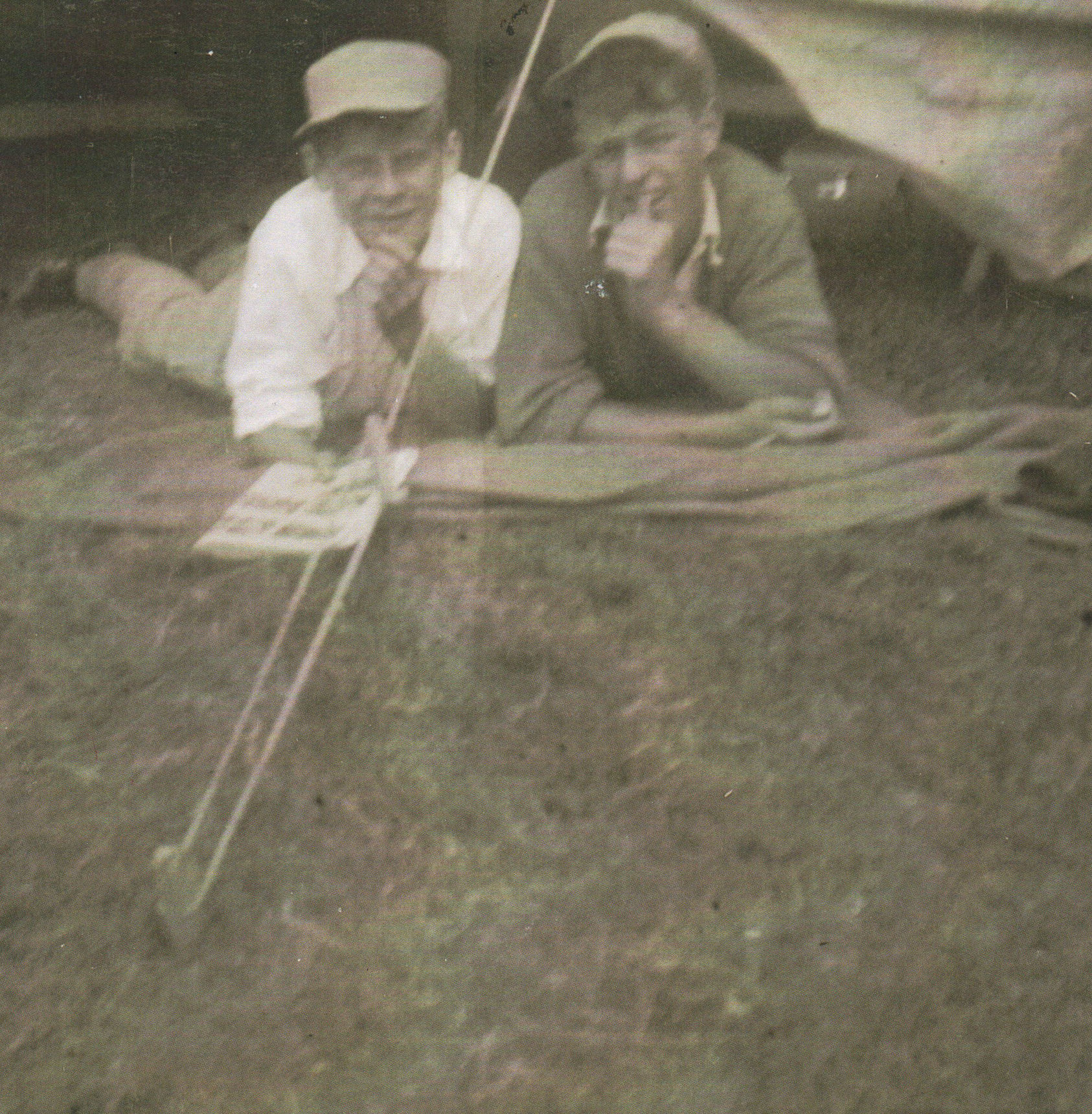 Robert Lee left, and David Finlayson at Boys Brigade Camp.