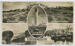 """My Dads Postcard says """"Greetings From Lossiemouth"""""""