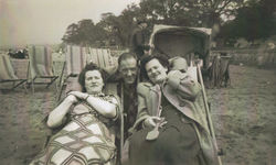 A day out at Cramond. From left my Auntie Mammie, Drew Johnston and my Mum.