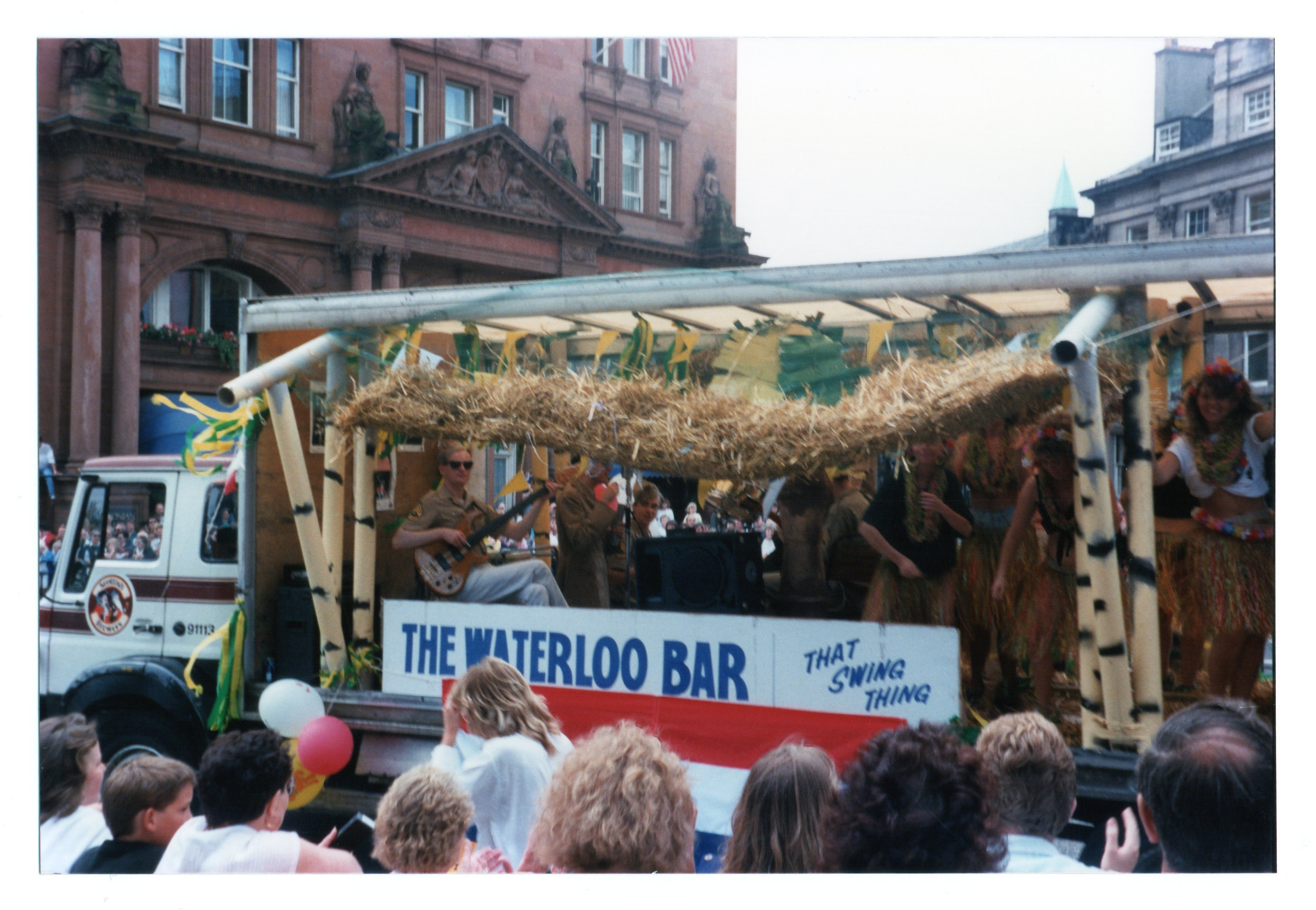 Waterloo Bar float in the Jazz Festival Parade 1987