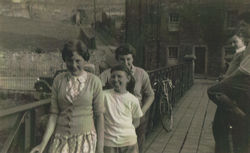 Picture taken on the Wooden Bridge with the High Green and Hawthorn Terrace in the background.