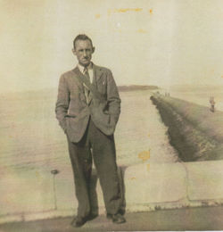 My Dad pictured at Cramond.
