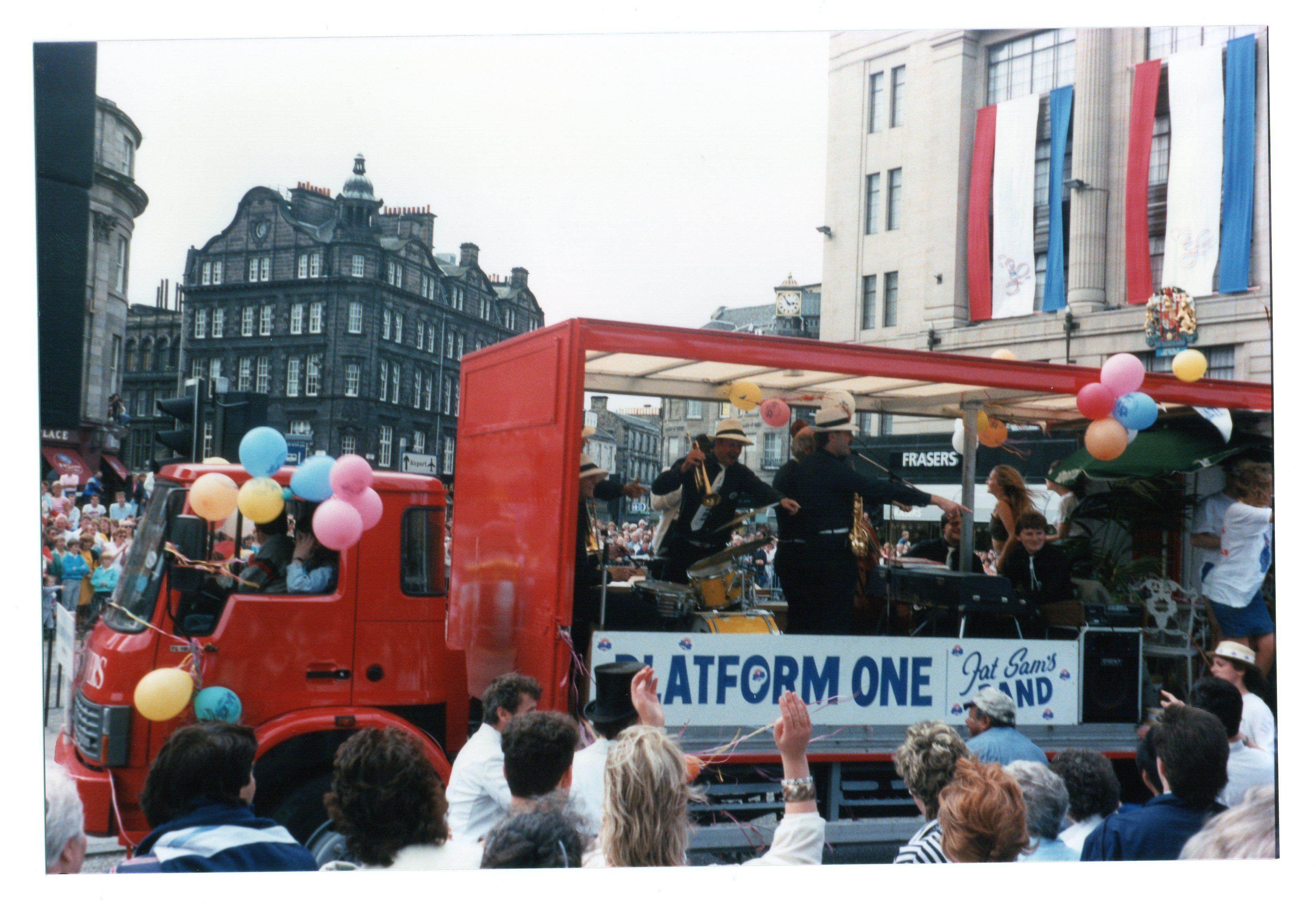 Platform One Jazz float Jazz Festival Parade 1987