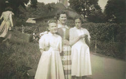 Princes Street Gardens on a Summer's Day with Me, Mum and my Sister Avril to the right.