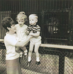 Me with my children, twins Gillian & Paul at Edinburgh Zoo.