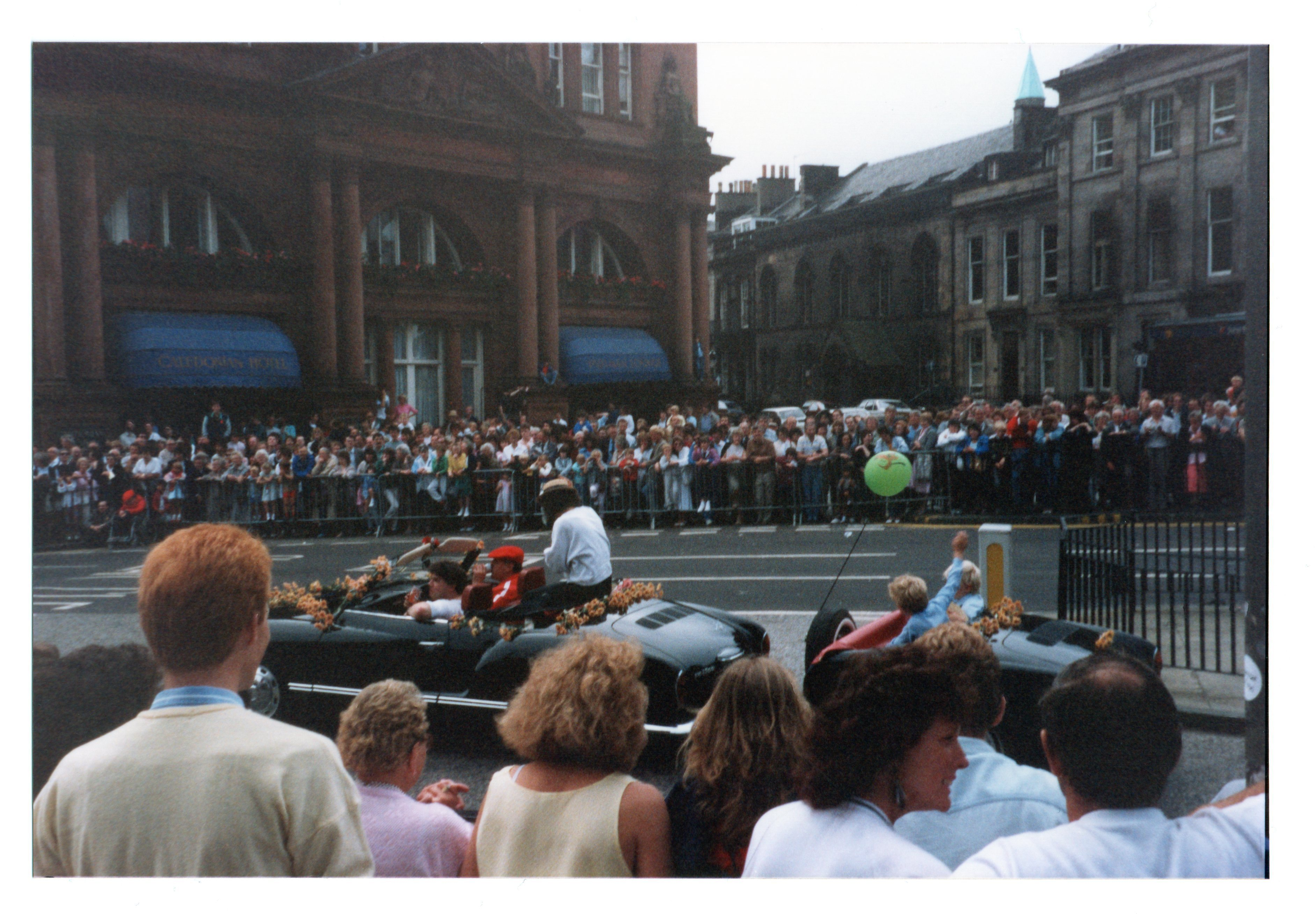 open top sports car in Jazz Festival Parade 1987