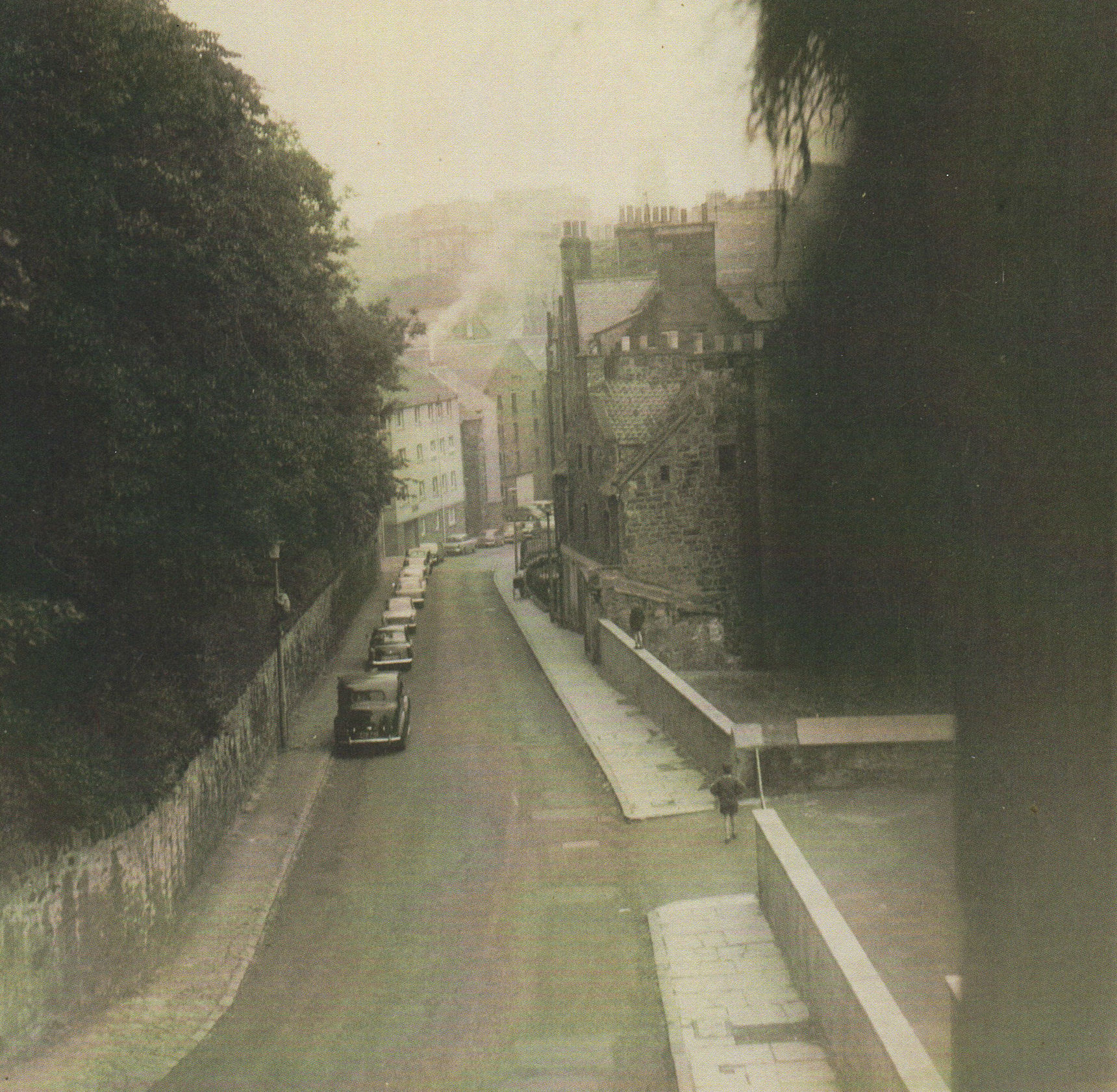 62 - The photo looking was taken from my bedroom window at 41, Dean Path,
