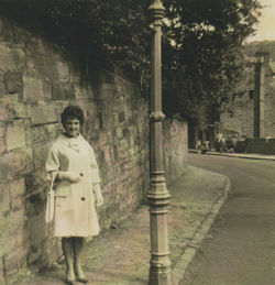 Here I am going out, pictured in Dean Path.