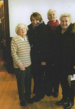 Photo taken in the Dean Parish Church from left to right - Meril McIvor, Margaret Lee,