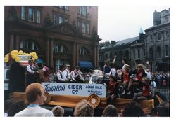 Taunton cider float - Acker Bilt and his Paramount Jazz Band Jazz Festival Parade 1987