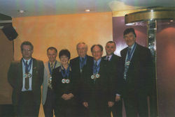 2000 - Proudly photograped is Scotland's Ten Pin Bronze Team Medalist's and I was one of them.