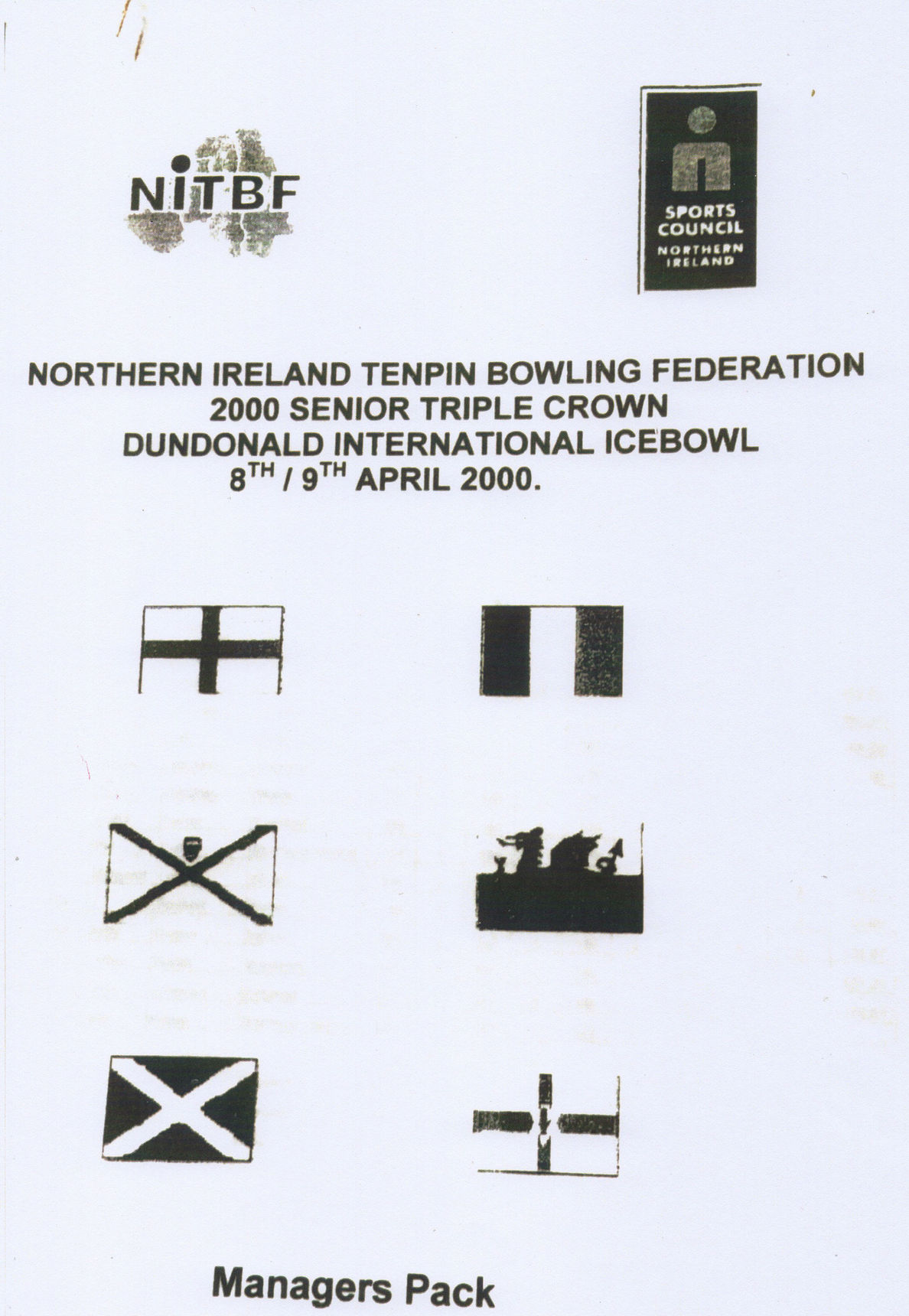 """I represented Scotland in the """"Dundonald International Ice Bowl Competition"""" in Belfast Northern Ireland."""