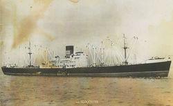 My Fiancee Robert serviced on the M. V. GLOUCESTER a Cargo Vessel,