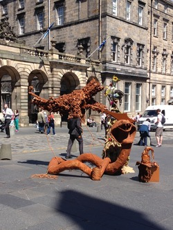 Street artist on Royal Mile