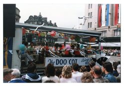 The Doo' Cot Swing 87 float Jazz Festival Parade 1987