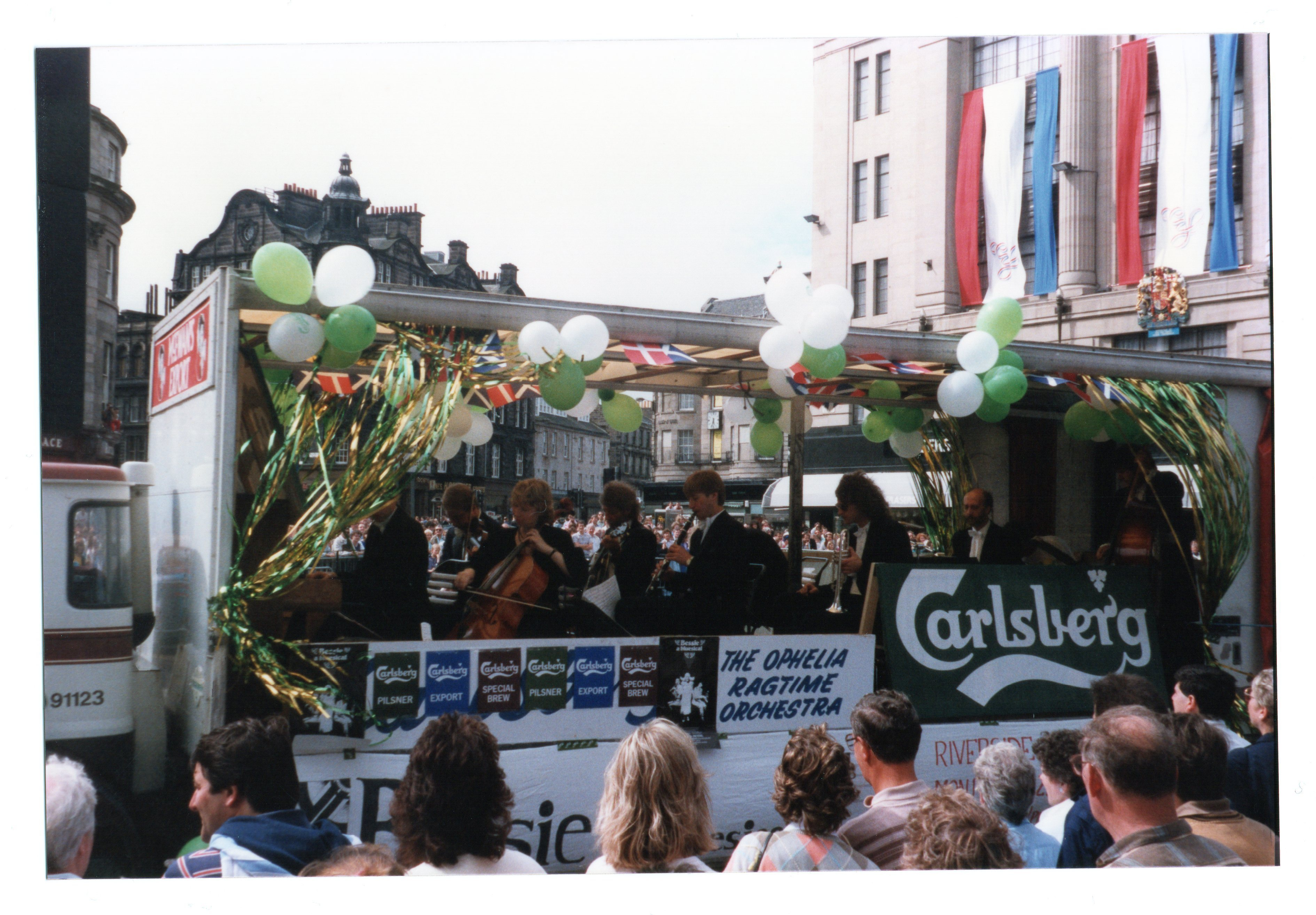 Carlsberg float - the Ophelia Ragtime Orchestra Jazz Festival Parade 1987