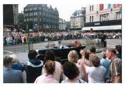 open top vintage car, Jazz Festival Parade 1987