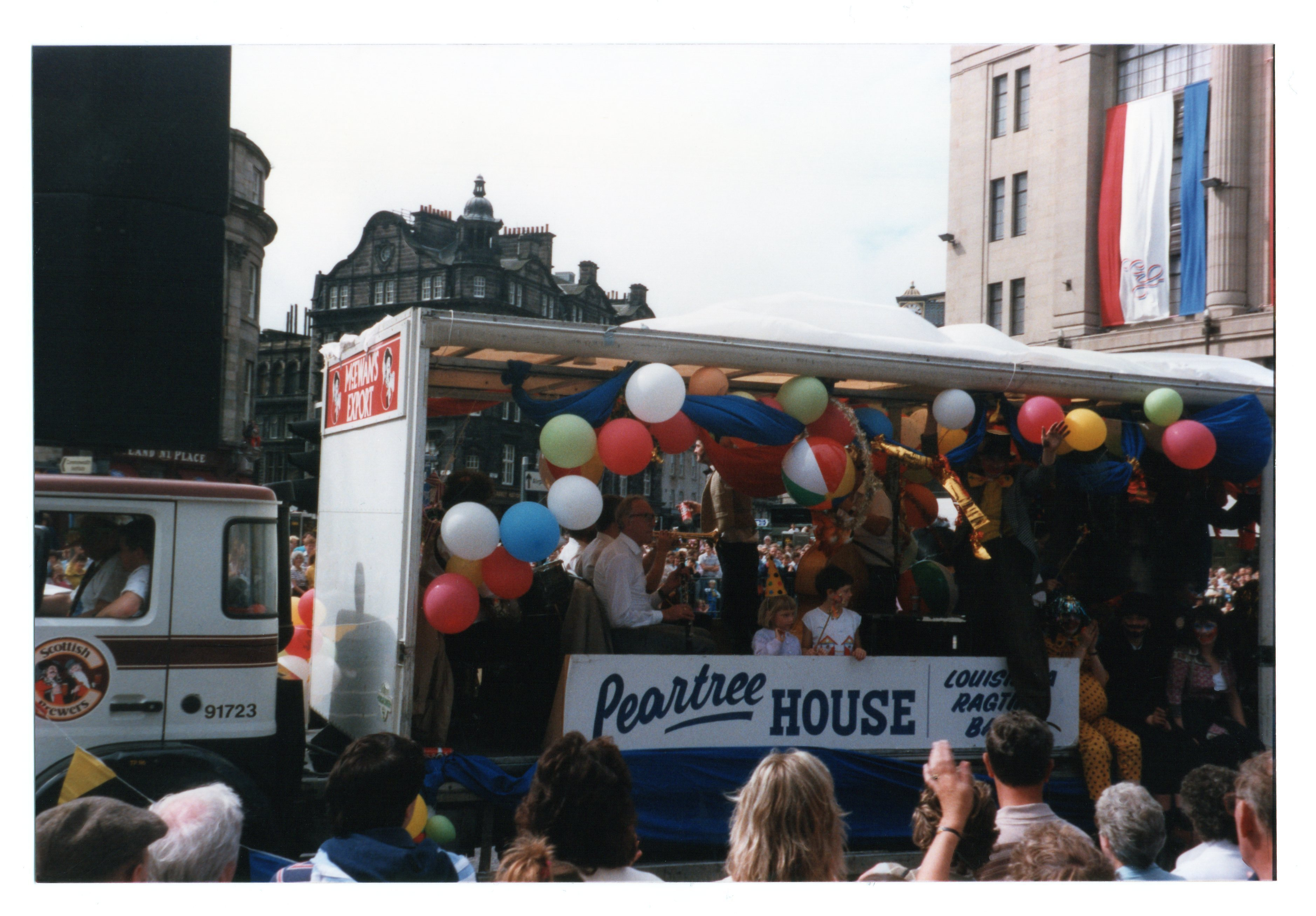 Peartree House float - Louisiana Ragtime Band Jazz Festival Parade 1987