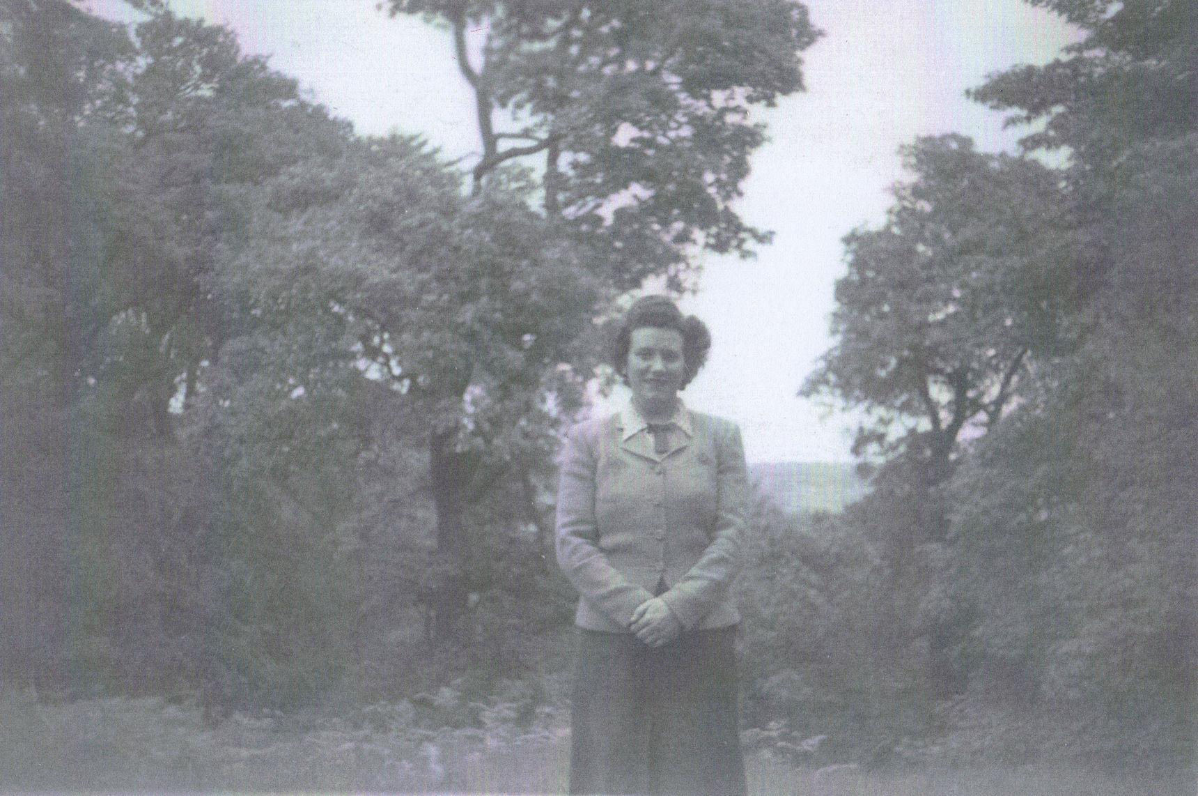 Mum pictured at Cramond