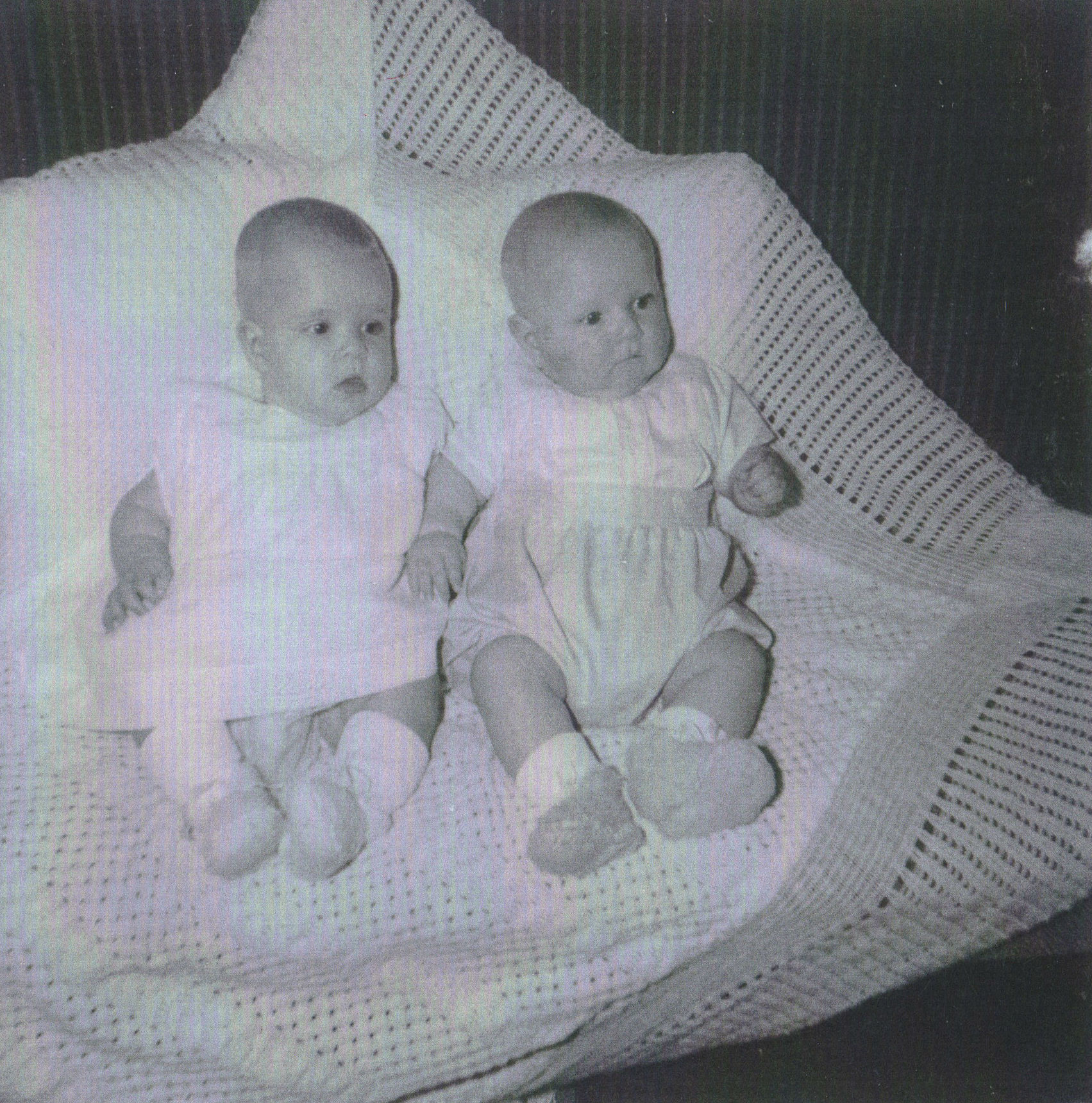 65 - My Twins Gillian & Paul aged 5 months pictured at my Home at 41 Dean Path.