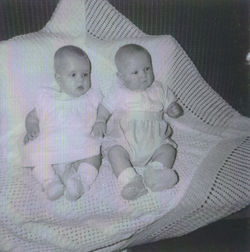 My Twins Gillian & Paul aged 5 months pictured at my home at 41 Dean Path.