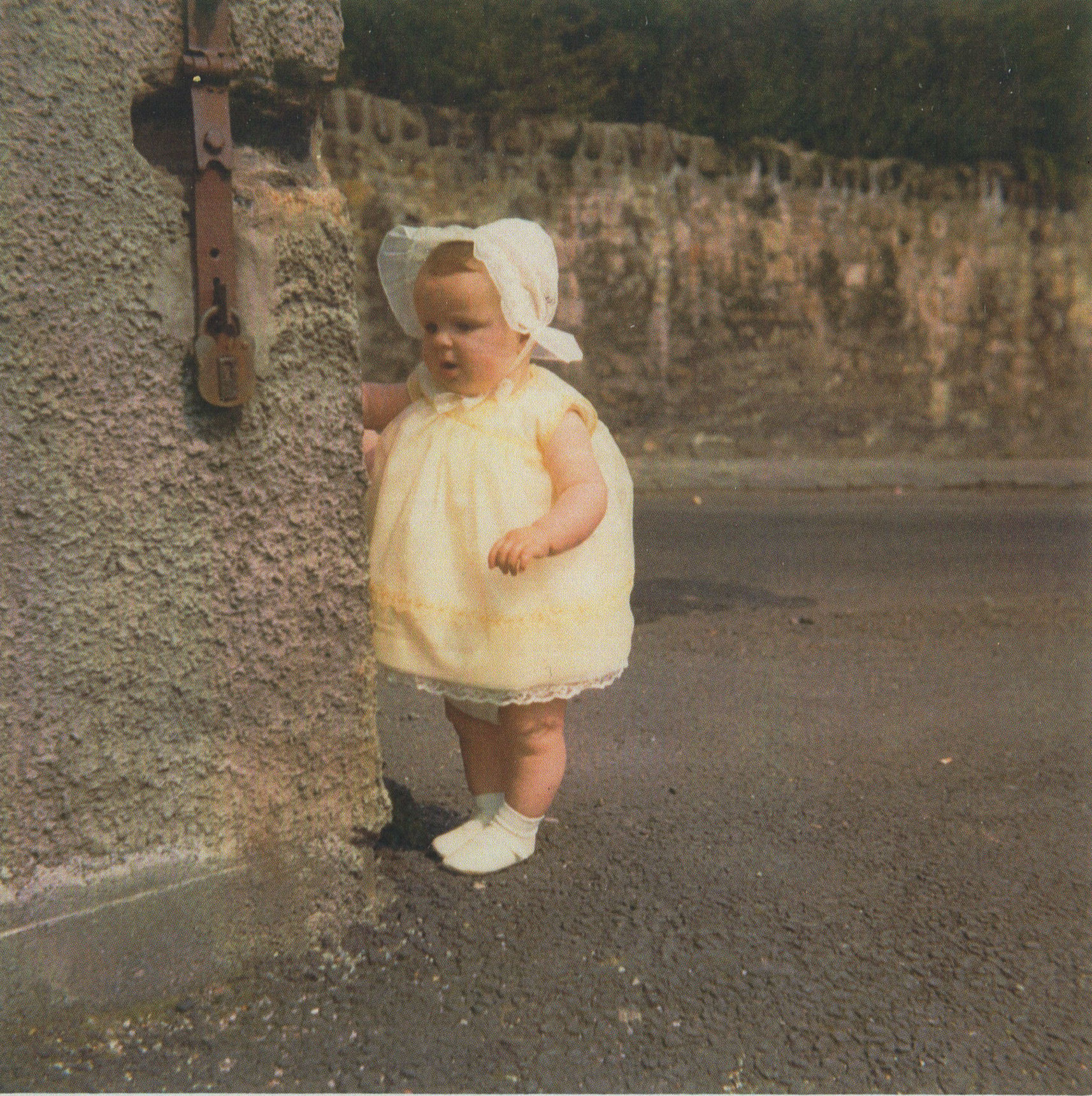 66 - My Daughter Gillian aged 10 months at the top corner of  Dean Path.