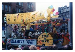 The Beehive - the Dry Throat Five Jazz festival Parade 1987