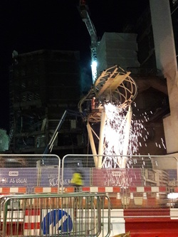 Demolition at former St James Centre site