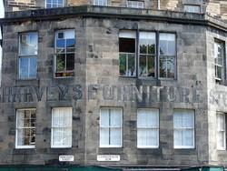 Edinburgh Ghost Signs -  Harveys Furniture Store - Candlemaker Row