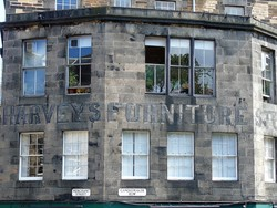 Edinburgh Ghost Signs -  Harveys Furniture Store - Candlemaker Row