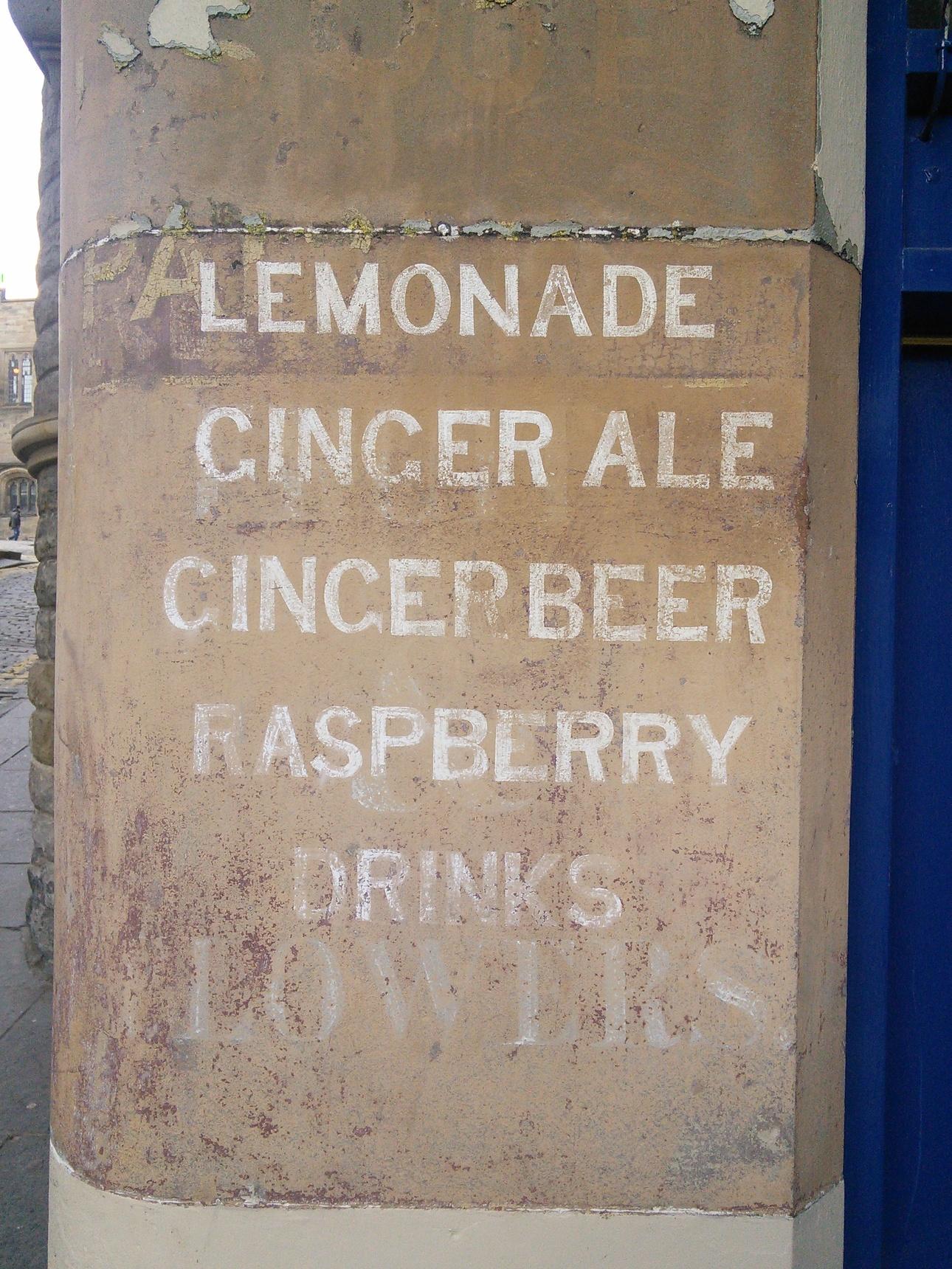 Edinburgh Ghost Signs - Upper Bow