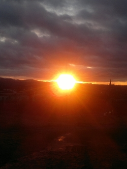 Sunset over Salisbury Crags