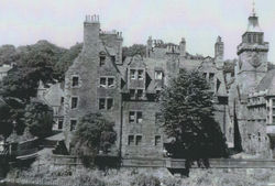 This is a lovely photo of the Well Court, my house is the second up with the windows shown in the middle of the 2 trees.