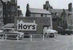 "My dad drove the ""Hoy's"" furniture van which is parked here in the (Auld Ducks) Damside, Dean Village."
