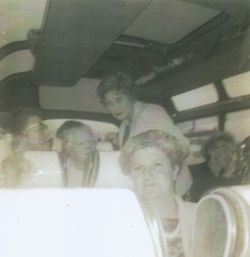 Dean Parish bus drives - My mum pictured standing,organised all the Bus Drives.
