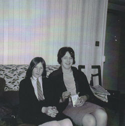 Me with my cousin June Boswell in her Well Court living room.