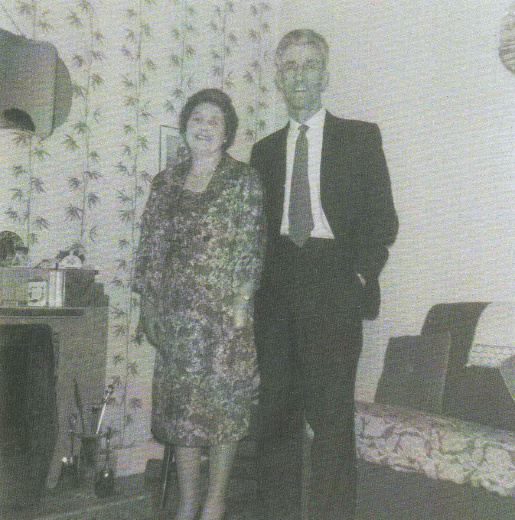 "My mum and dad looking very smart ready to attend my dad's Annual ""Hoys"" Work's Dance."