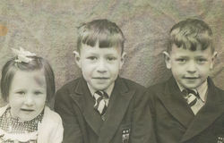 Dean School Family Photo - Me aged 4, Jim aged 7 and Douglas aged 6.