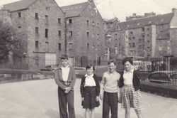"""Pictured in the """"Playground"""" left to right my brother Douglas, me, Michael Brash, and Margaret Lee."""