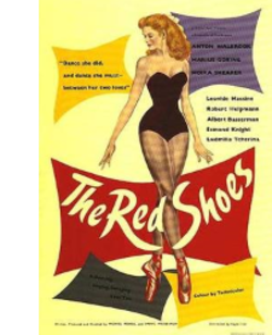 "Advertising Poster of Moira Shearer starring in the Film ""THE RED SHOES""."