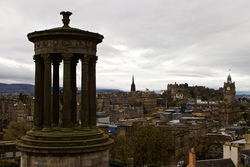 On top Calton Hill