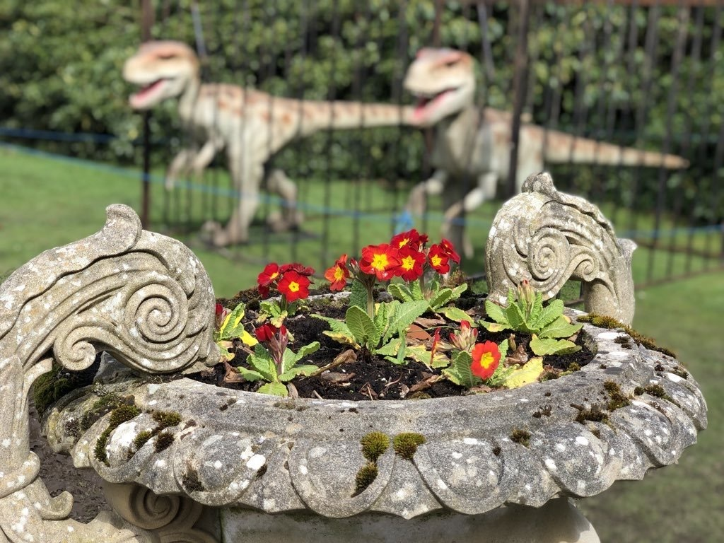 Dinosaurs at Lauriston Castle