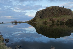 Dunsapie Loch at dusk
