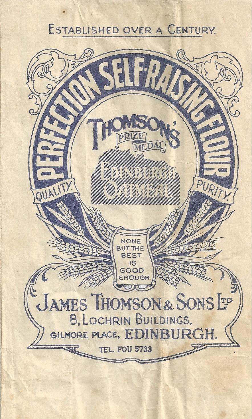 James Thomson & Son Ltd Flour Bag