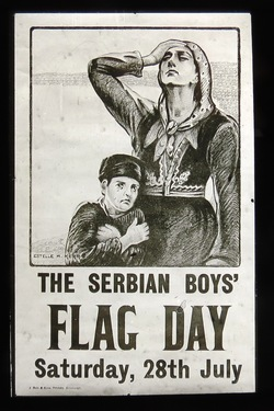 Serbian Boys Flag Day 1917