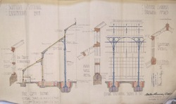 Scottish National Exhibition 1908, Winter Garden wall detail plan